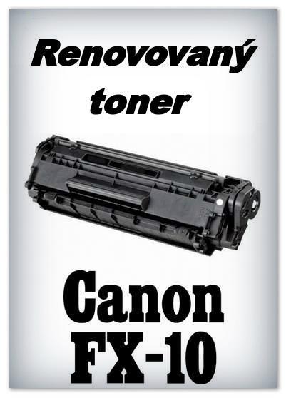 Canon FX-10 , FX10 - Renovovaný toner Canon FX10 - black