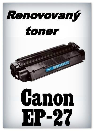 Renovovaný toner Canon EP-27 - black