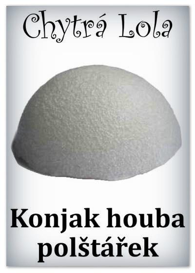 Chytrá Lola - Konjak houba polštářek - bambusové uhlí (KH03)