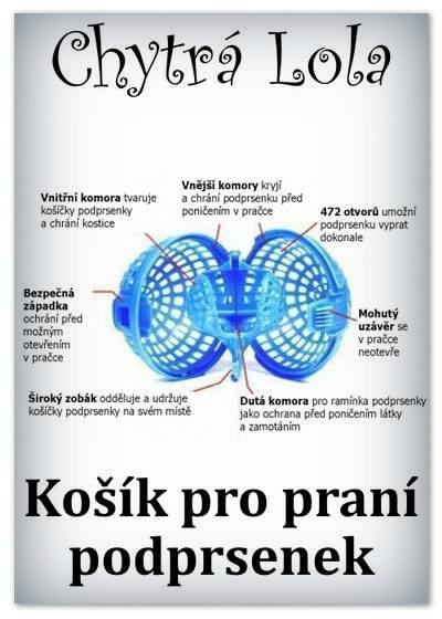 Chytrá Lola - Košík pro praní podprsenek (KP02)
