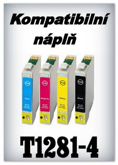 Handsome - Náplně do tiskáren Epson T1281 - T1284 - SADA 4 náplní - kompatibilní
