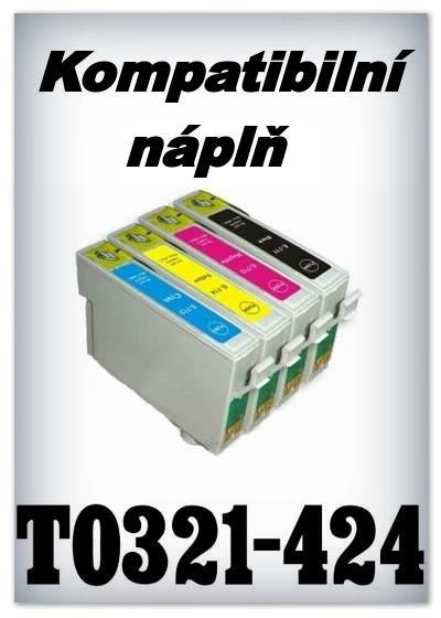 Náplně do tiskárny Epson T0321 - T0424 - SADA 4 náplní - kompatibilní