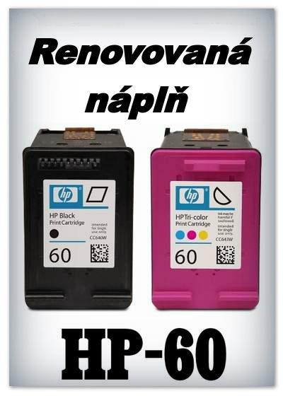 Náplně do tiskárny - SADA HP-60Bk + HP-60Color - renovované