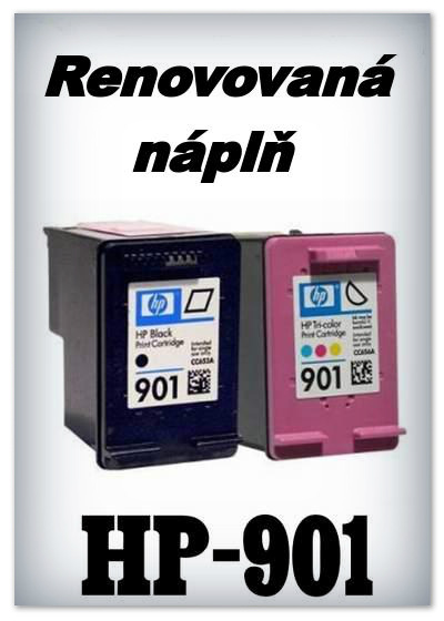 SuperNakup - Náplně do tiskáren - SADA HP-901 XL - black + HP-901 XL - color - renovované