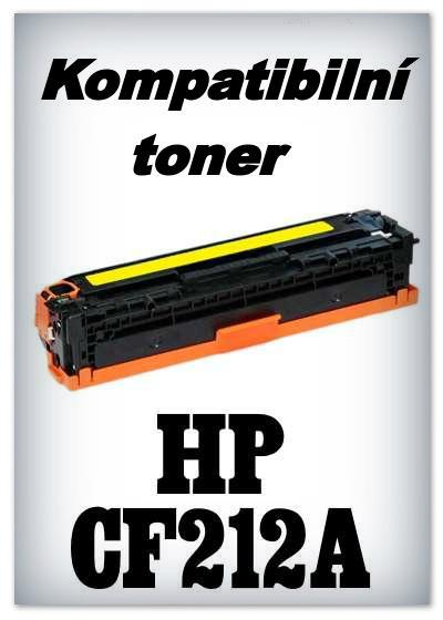 Kompatibilní toner HP CF212A - yellow