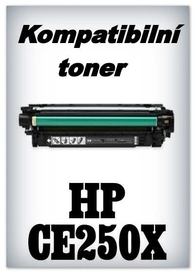 Kompatibilní toner HP CE250X - black