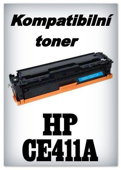 Kompatibilní toner HP CE411A - cyan