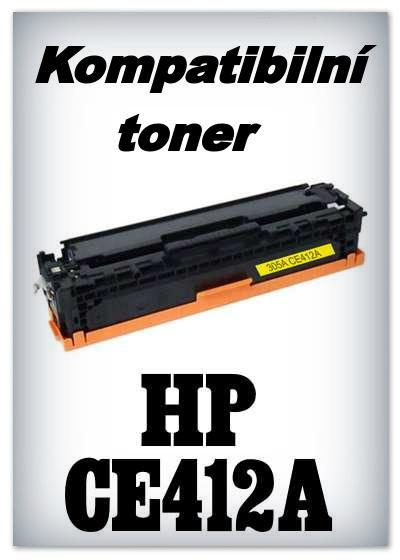 Kompatibilní toner HP CE412A - yellow