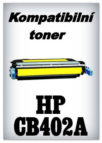 Kompatibilní toner HP CB402A - yellow