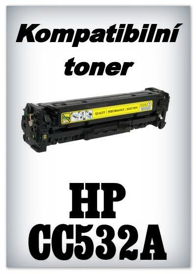 Kompatibilní toner HP CC532A - yellow