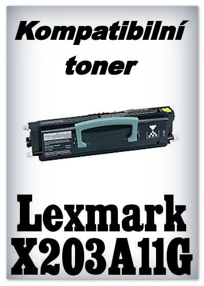 Kompatibilní toner Lexmark X203A11G - black