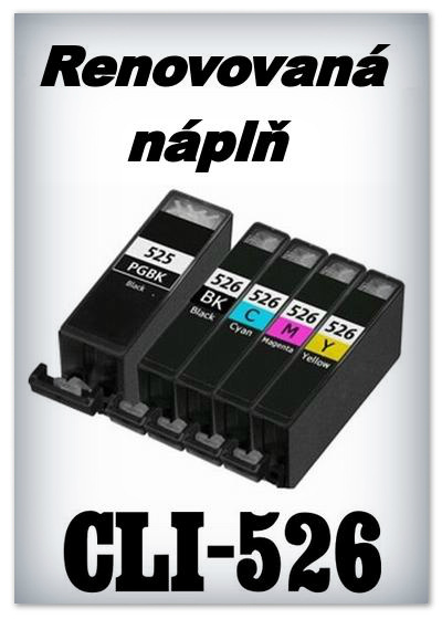 SuperNakup - Náplně do tiskáren Canon PGI-525, CLI-526 - SADA 5 náplní - renovované