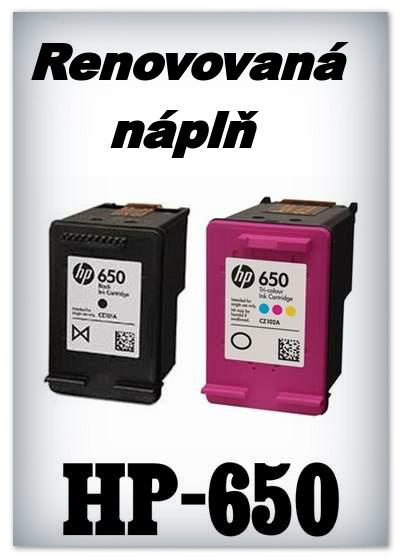 SuperNakup - Náplně do tiskáren - SADA HP-650 XL black + HP-650 XL color - renovované
