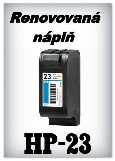 SuperNakup - Náplně do tiskáren HP-23 - color - SADA 3 náplní - renovované