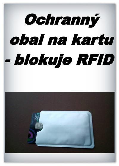 Ochranný obal na bezkontaktní kartu - blokuje RFID - 1 ks - stříbrné