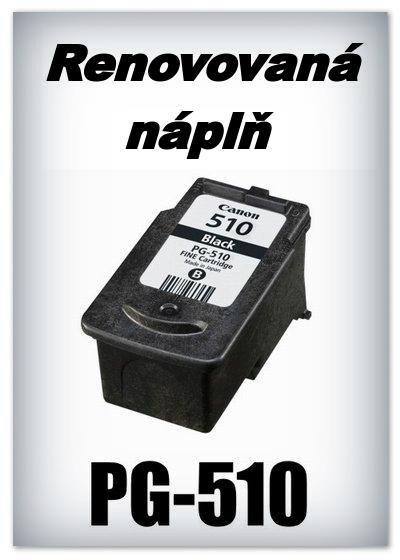 SuperNakup - Náplně do tiskáren Canon - PG-510 XL - black - SADA 3 náplní - renovované