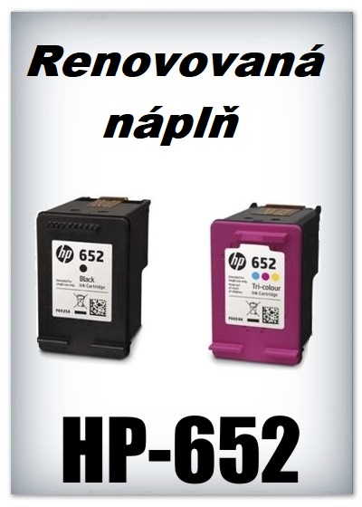 SuperNakup - Náplně do tiskáren - SADA HP-652 XL black + HP-652 XL color - renovované