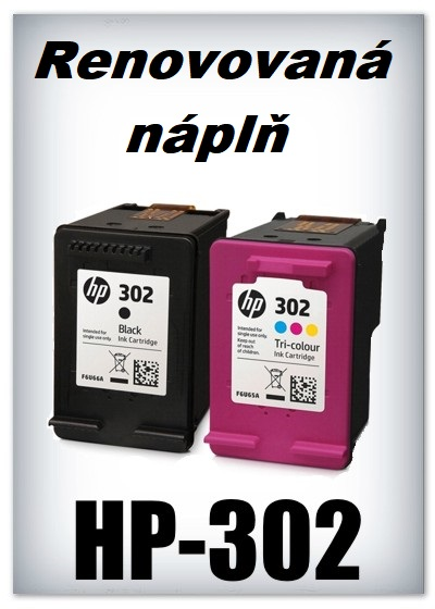 SuperNakup - Náplně do tiskáren - SADA HP-302 XL - black + HP-302 XL - color - renovované