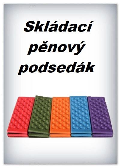 Skládací pěnový podsedák (modrý, 1 ks)