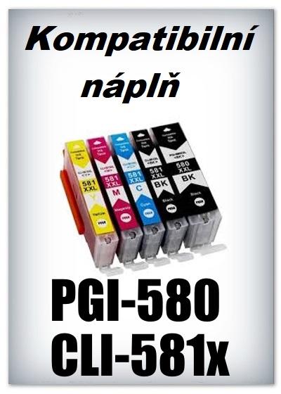 Handsome - Náplně do tiskáren Canon PGI-580 XXL a CLI-581 XXL - SADA 5 náplní - kompatibilní