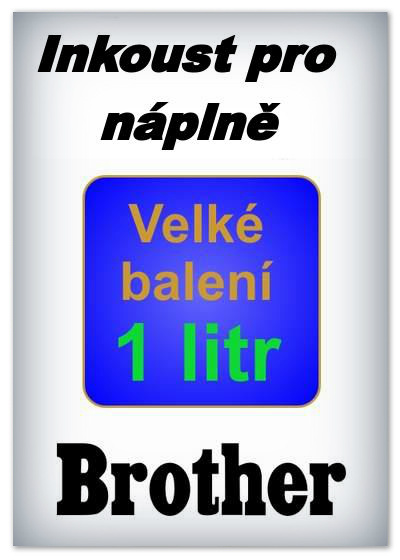Inkousty do tiskáren Brother - 1 litr